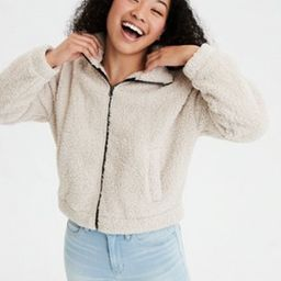 AE Sherpa Mock Neck Zip Up Sweatshirt   American Eagle Outfitters (US & CA)