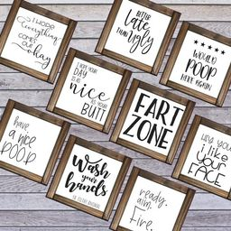 Bathroom Funny  Signs Collection,  Size options, Mini signs, best wood signs   Etsy (US)