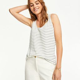 Petite Striped Mixed Media Shell | Ann Taylor (US)