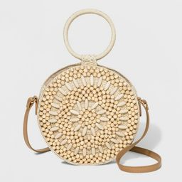 Beaded Circle Crossbody Bag - A New Day™ Natural   Target