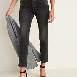High-Waisted Power Slim Straight Button-Fly Ankle Jeans for Women | Old Navy (US)