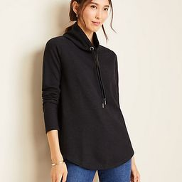 Brushed Flannel Drawstring Neck Tunic | Ann Taylor (US)
