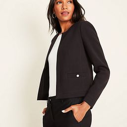 Pearlized Button Doubleweave Jacket   Ann Taylor (US)