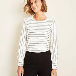 Stripe Puff Sleeve Top   Ann Taylor (US)