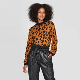 Women's Leopard Print Crewneck Pullover Sweater - Who What Wear™ | Target