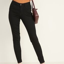 Mid-Rise Black Rockstar Super Skinny Jeans for Women   Old Navy (US)