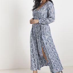 Printed Wrap Maxi Dress   Women's Plus Size Dresses   ELOQUII   Eloquii