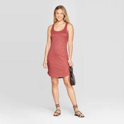Women's Casual Fit Sleeveless Crewneck Rib Knit Shift Dress - A New Day™   Target