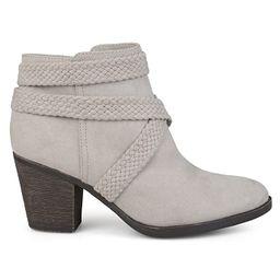 Brinley Co. Womens Sadie Faux Suede Almond-Toe Crisscross Strap Booties | Amazon (US)