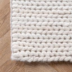 Off White Braided Textures Area Rug | Rugs USA