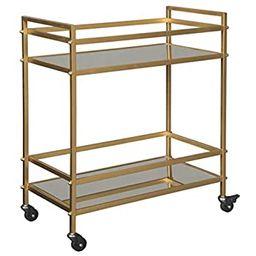 Ashley Furniture Signature Design - Kailman Bar Cart - Mid Century Style - 2 Shelves with Casters... | Amazon (US)