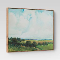 """30""""x24"""" Looming Clouds Framed Wall Canvas - Threshold™ 