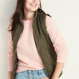 Lightweight Diamond-Quilted Zip-Front Vest for Women | Old Navy (US)