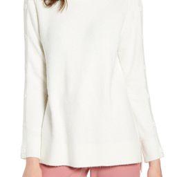 Button Sleeve Turtleneck Sweater | Nordstrom
