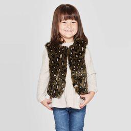 Toddler Girls' Faux Fur Vest - Cat & Jack™ Green | Target