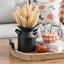 Cream Wheat Harvest Arrangement in Black Milk Jug | Kirkland's Home