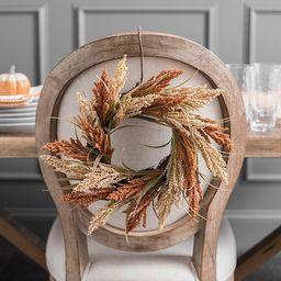 Orange and Tan Wheat Spiral Wreath | Kirkland's Home