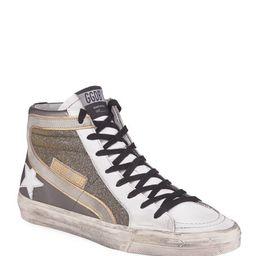 Golden Goose Metallic Slide High-Top Sneakers   Bergdorf Goodman