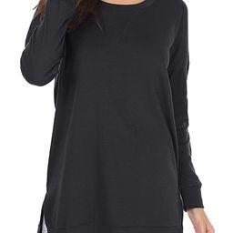 levaca Women's Fall Long Sleeve Side Split Loose Casual Pullover Tunic Tops   Amazon (US)