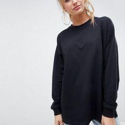 ASOS DESIGN oversized slouchy lightweight sweatshirt in black   ASOS US