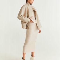 Ribbed midi skirt | MANGO (US)