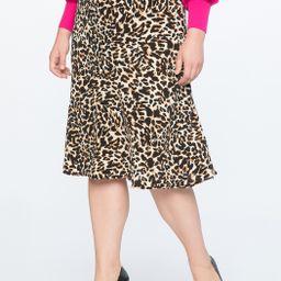 Soft Printed Midi Skirt   Eloquii