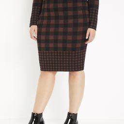 Buffalo Plaid Sweater Column Skirt   Eloquii
