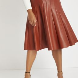 Faux Leather Trumpet Skirt   Eloquii