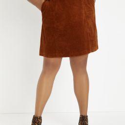 Corduroy A-Line Skirt   Eloquii