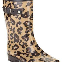 Women's Leopard Spot Printed Mid-Calf Jelly Rain Boots | Walmart (US)