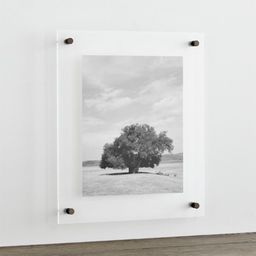 """Gunmetal 19x16"""" Floating Acrylic Wall Frame + Reviews 