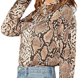 Women's Elegant Tied Neck Knot Front Long Sleeve Blouse Top | Amazon (US)