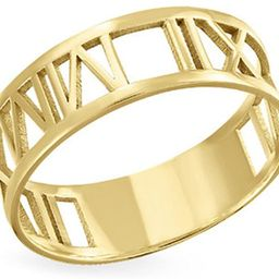 Personalized 925 Sterling Silver 18K Gold Plated Ring Romantic Gifts Custom with Any Roman Numera... | Amazon (US)