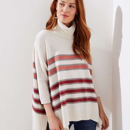 Striped Turtleneck Poncho Sweater | LOFT | LOFT