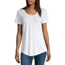 a.n.a Womens Scoop Neck Short Sleeve T-Shirt   JCPenney
