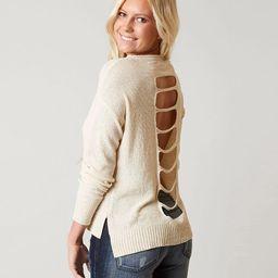 Open Back Sweater   Buckle