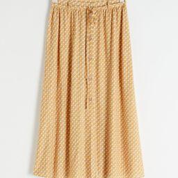 Geometric Print Midi Skirt   & Other Stories