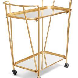 Metal Mirrored Rolling Bar Cart | Nordstrom