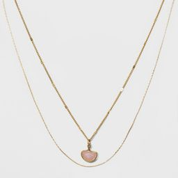Two Row Layered Charm Necklace - Universal Thread™ | Target
