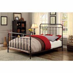 Metal Full Size Platform Bed with Headboard & Footboard, Deep Bronze   Walmart (US)