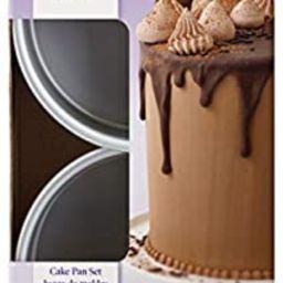 Wilton Small and Tall Aluminum Cake Pans, 2-Piece - Layer Cake Pan Set | Amazon (US)