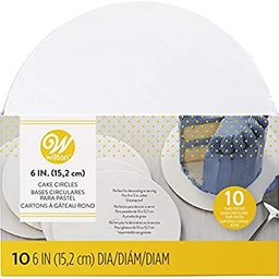 Wilton 6-Inch Round Cake Boards, 10-Count | Amazon (US)