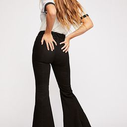 CRVY Super High-Rise Lace-Up Flare Jeans | Free People (US)