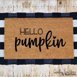 Hello Pumpkin Doormat Fall Decor Funny Fall Doormat Coir Autumn Welcome Mat Thanksgiving Hey Ther...   Etsy (US)
