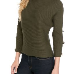 Ottoman Rib Knit Dolman Sleeve Top with Buttons | Belk