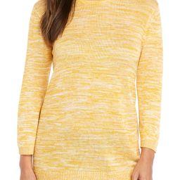 3/4 Sleeve Strappy Back Marled Pullover | Belk