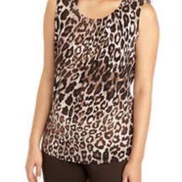 Women's Sleeveless Leopard Print Blouse | Belk