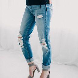 Girlfriend High Rise Ankle Skinny Jean   Buckle