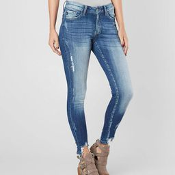 Mid-Rise Ankle Skinny Stretch Jean   Buckle