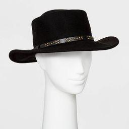 Women's Felt Boater Hat - Universal Thread™ Black | Target